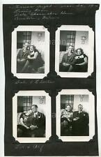 Couples on Sofa & Kids Christmas Night AUSTIN MN Shoemaker 7 Vintage 1946 Photos