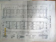 TRAIN CHAUFFAGE VAPEUR PLAN 1906 TEC 240 ILLUSTRATION ANCIENNE