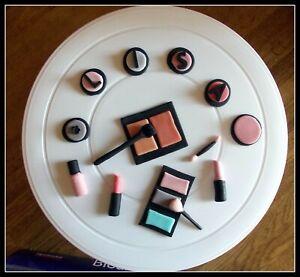 Tortenaufleger Fondant Figur Zuckerfigur Tortendeko Geburtstag Make-Up Schminke