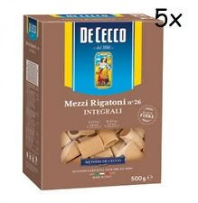 5x Pasta De Cecco mezzi rigatoni integrali 26 Vollkorn italienisch Nudeln 500 g