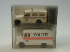 Brekina Land Rover + Opel Blitz, Polizei BASEL Stadt (CH) - Arwico 99292 - 1/87