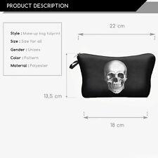 Make Up Bag Case 3D Print Skull Organizer Bolsa Travel Toiletry Cosmetic Bag