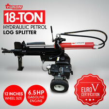 Yukon 18 Ton PETROL HYDRAULIC LOG SPLITTER WOOD TIMBER FIREWOOD BLOCK CUTTER