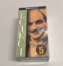 Agatha Christie's Hercule POIROT Collector Set 5 - 3 VHS Tapes Box Set  NEW