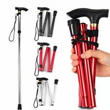 Aluminium Metal Walking Stick Easy Adjustable Folding Collapsible Travel Cane