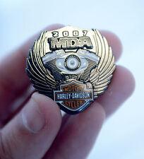 NEW Harley Davidson MDA Hat Jacket Vest Rally Pin Badge 2007 Metal Wings Hog