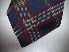 New BROOKS BROTHERS Navy Blue Tartan Plaid Silk Neck Tie ~ MSRP $79.50 ~ NWT