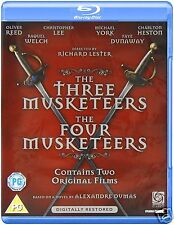 The Three Musketeers/The Four Musketeers (Blu-ray Region A)~~Double Feature~~NEW