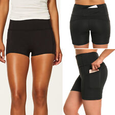 Women's Sports Compression Yoga Shorts Pocket Pants Fitness Workout Trousers G72