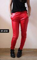 Christmas Sale - Genuine Soft Lambskin Leather Straight Cut Pants