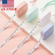 US 1.5M Household Retractable Auto SquareTape Measure Home Centimeter Inch Ruler