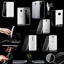 Slim Thin Transparent Crystal Clear Soft TPU Case Skin Cover For Various Phones