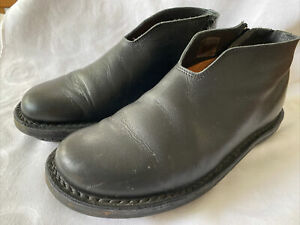 Trippen Back Zip Up Leather Shoes Boots - Size 39 VGC