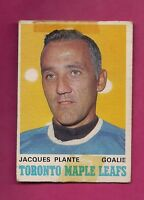 1970-71 OPC # 222 LEAFS JACQUES PLANTE GOALIE FAIR CARD (INV# A2065)
