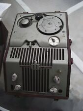 VINTAGE, DECO LOOKING, WEBSTER CHICAGO WIRE TAPE RECORDER W/ CARRYING CASE