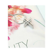 Korea Star Accessories Double Cross Cubic Necklace (MADC086)