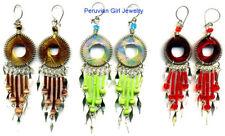 20 Thread Earrings Peruvian Handmade Artisan Jewelry Nr