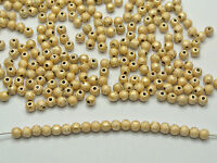 """1000 Gold Stardust Acrylic Round Beads 4mm(0.16"""") Spacer Finding"""
