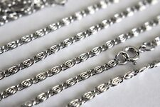 Wholesale 10 Pcs 18 Inch Rhodium Plated 2.3 MM Scroll Chain Necklace Lot