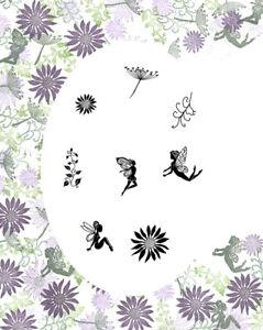 Card-io Secret Garden Majestix Clear Peg Stamps CDMASE-01