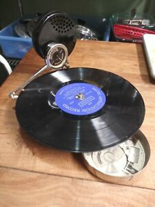 ORIGINAL Mikiphone Swiss Portable Pocket Disc Phonograph- Antique 1920's