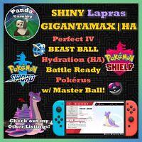 SHINY Gigantamax Lapras GMax HA ✨Master Ball ✨6IV Pokemon Sword Pokemon Shield