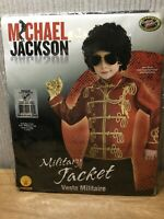 Fancy Dress Costume Dress Up Outfit Michael Jackson Military 5-7 Years Boys