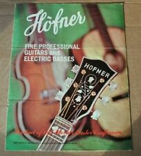 Hofner vintage catalog booklet brochure.  1960's.  Beatle Bass 500/1 LH