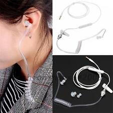 Anti-Strahlung Luftschlauch Stereo Headset Monaural Kopfhörer MIC für Handy MP3