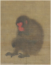 Chinese antique painting Animal Monkey A chimpanzee ape in Southern Song dynasty