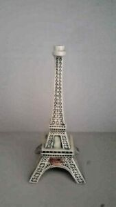 Vintage Light Bleu  ceramic  Paris Eiffel Tower Bottle With Cork