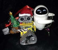 Disney Theme Parks Wall-E and Eve Figurine Christmas Holiday Ornament (NEW)