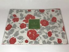 New listing Kate Spade New York - Garden Rose Placemats - Grey/Coral - Set Of 4 - Nwt