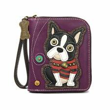 Chala -  Boston Terrier  - Zip-Around Wallet