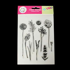 Clair non montés Silicone timbres 10 Plant PATTERNS SILICONE Seal scrapbooking