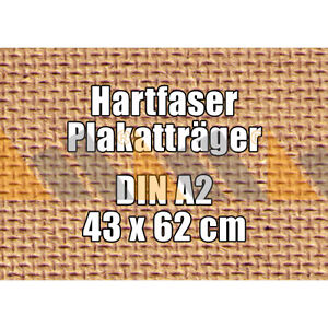 25 McPoster Profi-Hartfaser DIN A2 - 430 x 620 x 3,0 mm | gebohrt | 1000 kg/m³