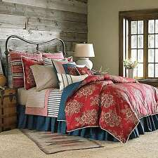 Chaps Home Telluride Euro Pillow Sham (1) ONLY! Navy/Tan/Red/Navy Cotton