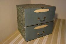 Ancienne boite classeur de notaire meuble de métier en carton