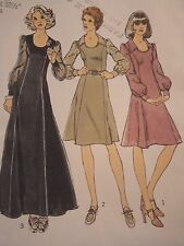 S-6561 Vintage 1970s Dress Sewing Pattern Simplicity Size 10 Cut & Complete