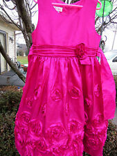 JESSICA ANN Taffeta Flower Girl Special Occasion Dress Valentines Wedding Sz 6X
