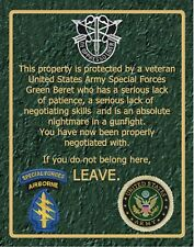 SN 006     Special Forces warning sign