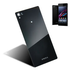 Black PC Back Door Battery Glass Cover Case Panel For sony Xperia Z1 L39h C6903