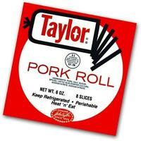 Taylor Ham Pork Roll, Thin Sliced (4 Boxes, 8 Slices each, 1.5lbs total)
