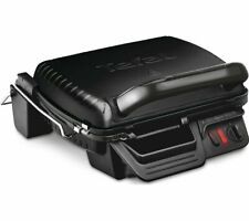 TEFAL Ultracompact 3-in-1 GC308840 Health Grill Removable Plates Black - Currys
