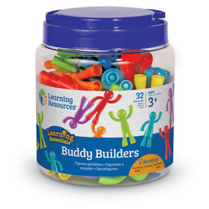 Learning Resources Buddy Builders Stacking Figure Toy 32 Piece Fine Motor Skills