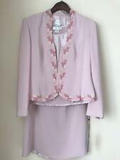 COTERIE Vintage 3 Piece Pale Pink Special Occasion/ Mother of Bride Suit Size 14