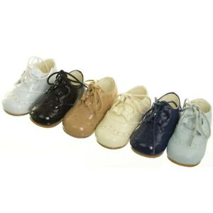BABY BOYS-GIRLS OCCASION/SPANISH PRAM/FIRST WALKING SHOES PATENT ALL COLOURS