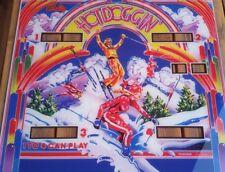 Hot Doggin Bally  flipper machine  US Backglass pinball reproduction