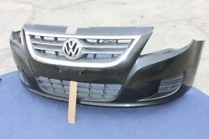 09-14 VW ROUTAN FRONT BUMPER TRIM UPPER LOWER GRILL ASSEMBLY GENUINE OEM BLACK