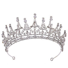 6.5cm High Crystal Stars Tiara Crown Wedding Bridal Party Pageant Prom 2 Colors